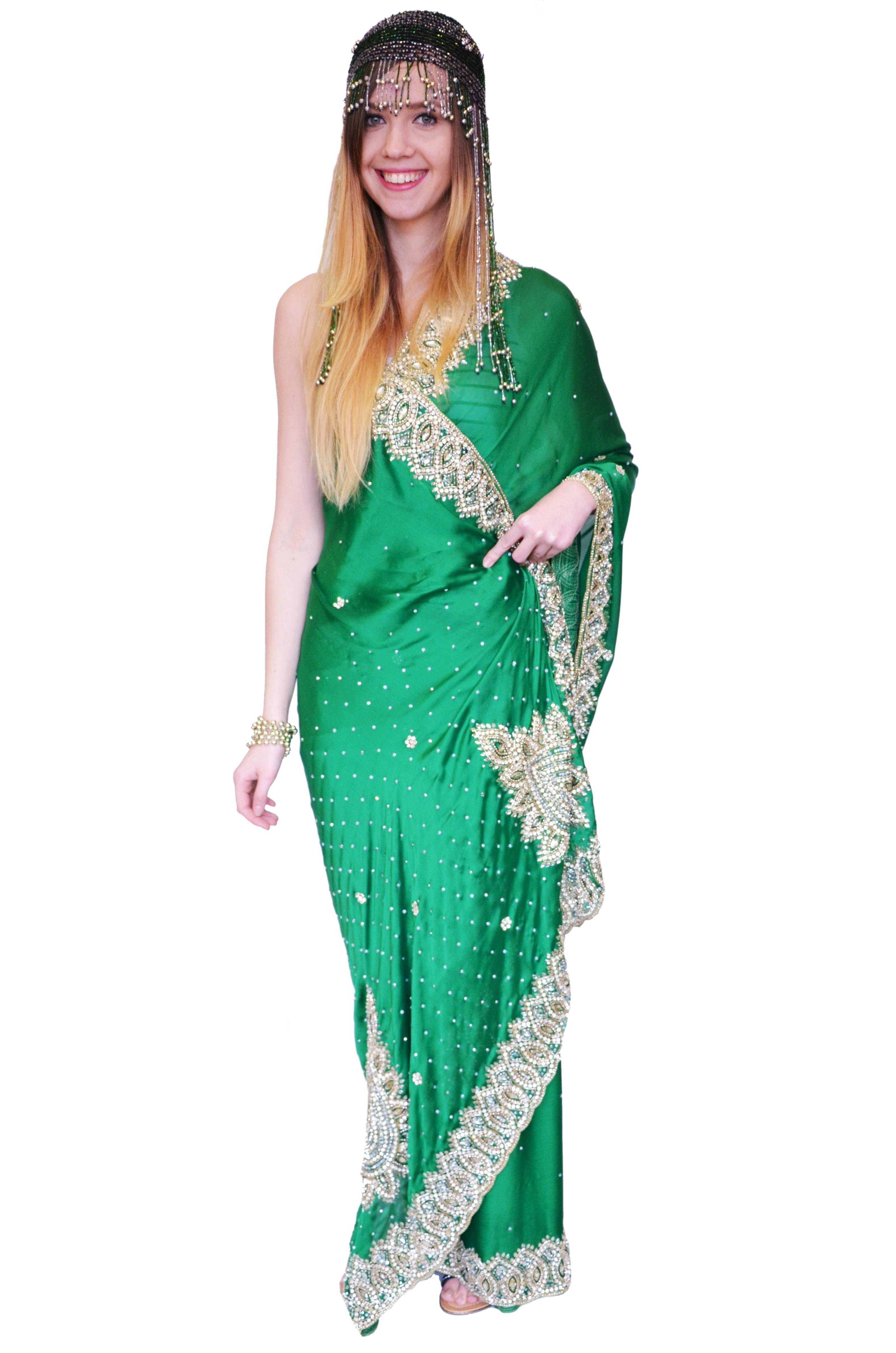 Zielone sari